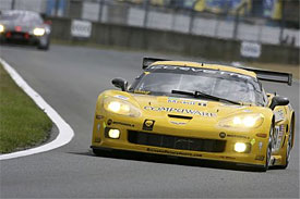 The No. 64 Corvette of Olivier Beretta, Oliver Gavin and Max Papis at Le Mans