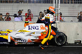 Nelson Piquet, Renault, Singapore 2008