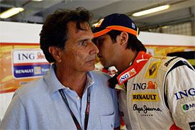 Nelson Piquet Sr and Junior