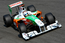 Adrian Sutil, Force India, Monza practice 2009