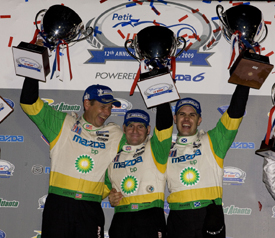 LMP2 winning Dyson crew, Petit Le Mans 2009