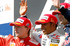 Kimi Raikkonen, Lewis Hamilton