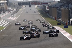 Sakhir GP2 Asia start 2009