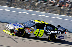 Jimmie Johnson at Kansas