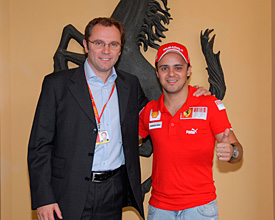 Stefano Domenicali and Felipe Massa