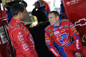 Juan Pablo Montoya and Mark Martin