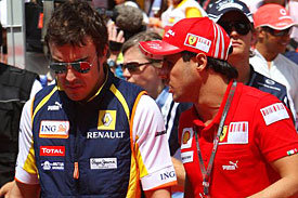 Fernando Alonso and Felipe Massa, 2009