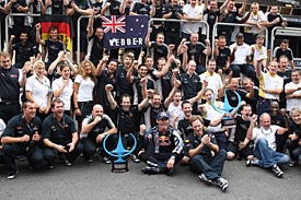 Red Bull celebrates in Brazil