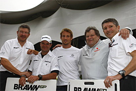 Norbert Haug with Brawn members