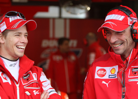 Casey Stoner and Livio Suppo