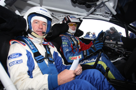 Alan Shearer and Jari-Matti Latvala