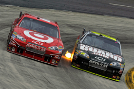 Juan Pablo Montoya and Jeff Gordon, Martinsville 2009