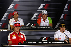 Thursday's press conference in Abu Dhabi