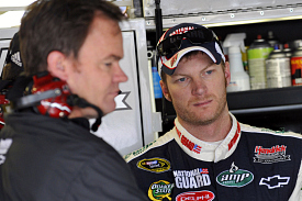 Dale Earnhardt Jr and crew chief Lance McGrew