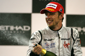 Jenson Button on the Abu Dhabi podium