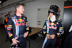 David Coulthard and Sebastian Vettel, Race of Champions