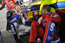 Jimmie Johnson and Mark Martin