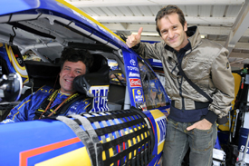 Jarno Trulli with Michael Waltrip at Phoenix