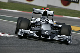 The Mercedes F1 car