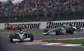 Johnny Herbert Eddie Irvine 2000 Japanese Grand Prix