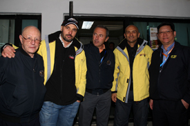 Yvan Muller and Gabriele Tarquini with the FIA WTCC medical crew