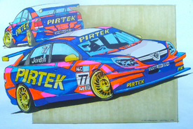 Artist's impression of Andrew Jordan's Pirtek Vauxhall