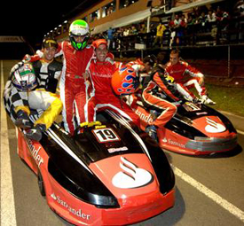 Felipe Massa, Lucas di Grassi and Julio Campos win the 2009 Granja Viana 500