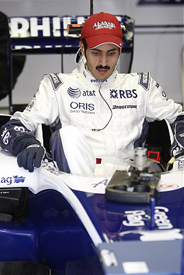 Sheikh Khalid bin Hamad Al-Thani, Williams test, Losail 2009