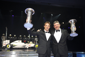 Jenson Button and Ross Brawn at the FIA Gala