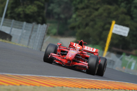 Michael Schumacher tests a 2007 Ferrari at Mugello