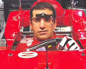 Marc Gene in the Ferrari simulator