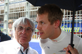 Bernie Ecclestone and Sebastian Vettel
