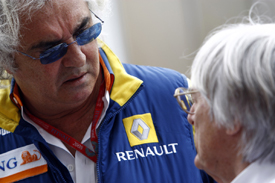 Flavio Briatore and Bernie Ecclestone