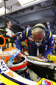 Flavio Briatore and Nelson Piquet