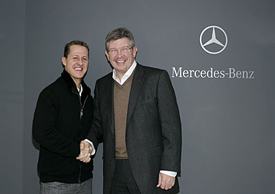Ross Brawn and Michael Schumacher