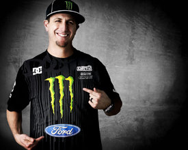 Ken Block in monster shirt