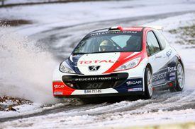 Stephane Sarrazin, Peugeot, Monte Carlo Rally testing 2010