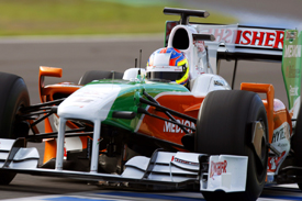 Paul di Resta, Force India, Jerez testing 2009