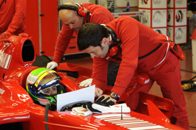 Felipe Massa, F2007 test, Mugello, December 2009