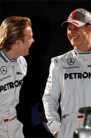 Nico Rosberg, Michael Schumacher