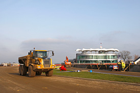 Works at the Silverstone circuit