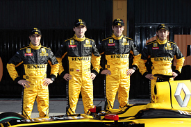 Jerome d'Ambrosio, Robert Kubica, Vitaly Petrov and Ho-Pin Tung