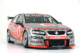 Team Vodafone's new car