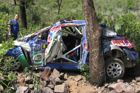 Jari-Matti Latvala's crashed Ford, Portugal 2009