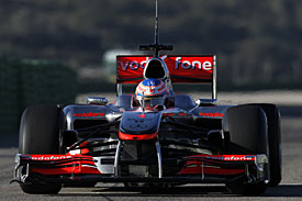 Jenson Button, McLaren, Valencia test, 2010