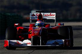 Fernando Alonso, Ferrari, Valencia testing