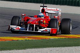 Fernando Alonso, Valencia testing