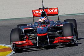 Jenson Button, McLaren, Valencia testing