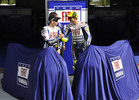 Valentino Rossi and Jorge Lorenzo, Yamaha unveiling
