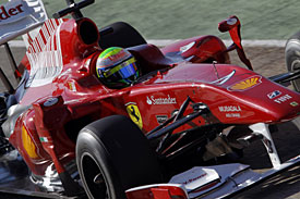 Felipe Massa, Ferrari, Valencia test, 2010
